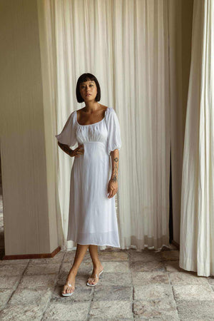 Maya Dress Off White - EESOME