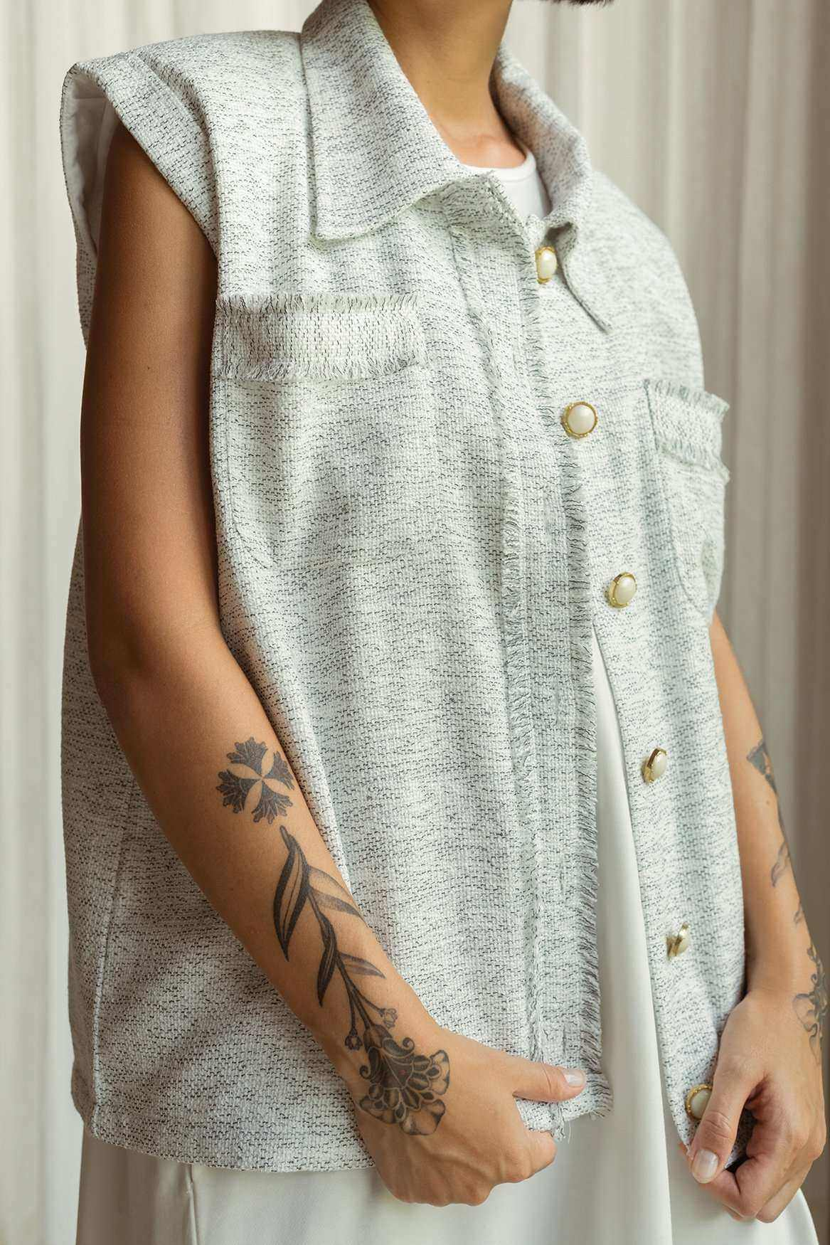 Gemma Vest Off White - EESOME