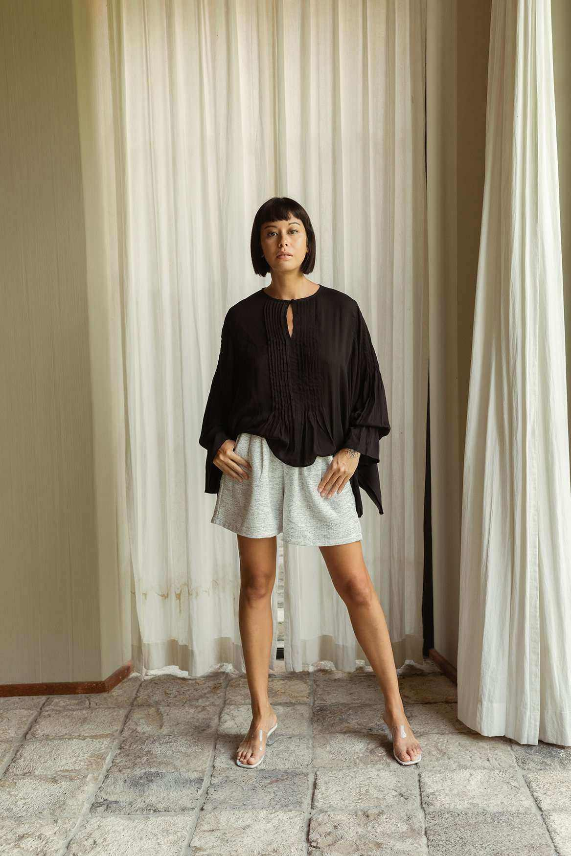 Maya Blouse Black - EESOME