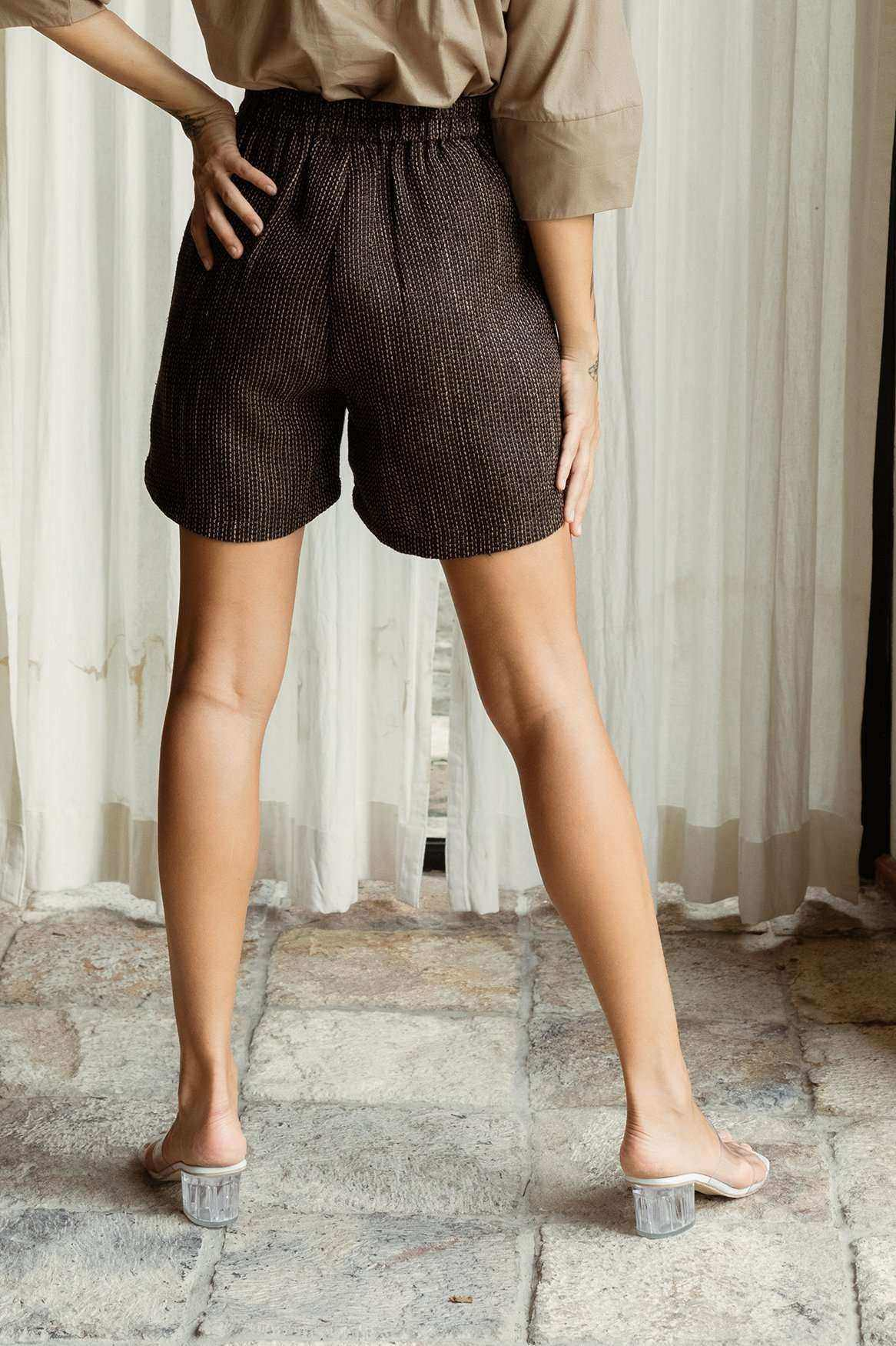 Gemma Shorts Black/Brown - EESOME