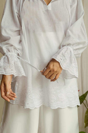 Poppy Blouse Off White - EESOME