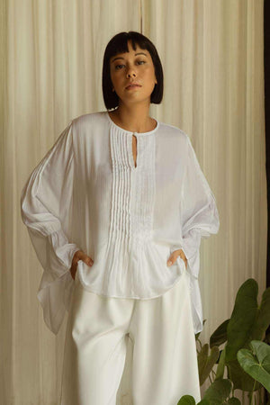 Maya Blouse Off White - EESOME