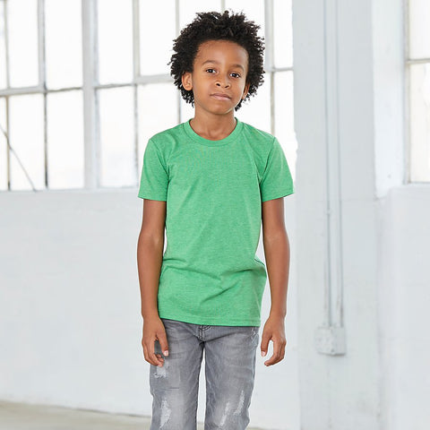 BC Tri-blend Short Sleeve Tee Youth - 3413Y