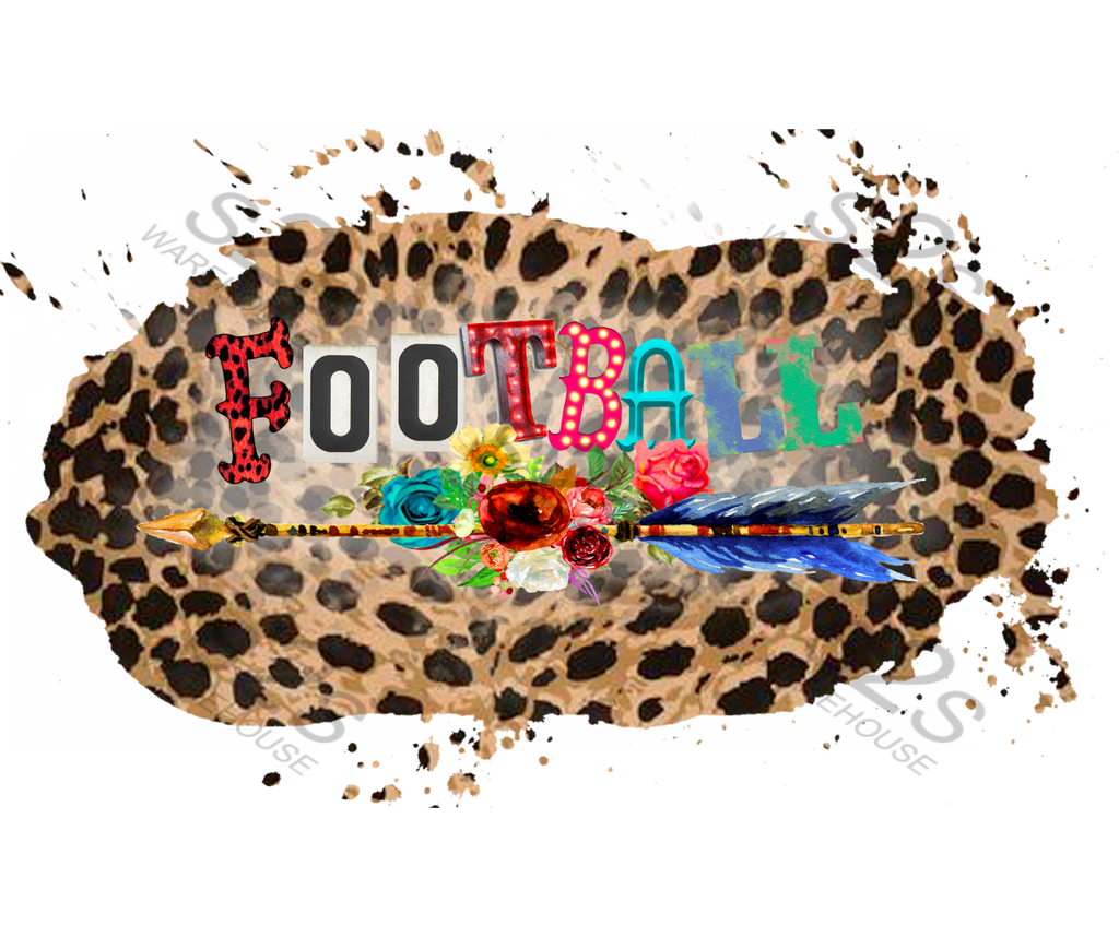 Football Arrow Boho Leopard