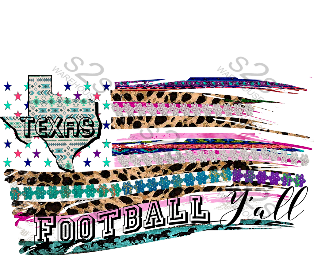 Football Texas Flag