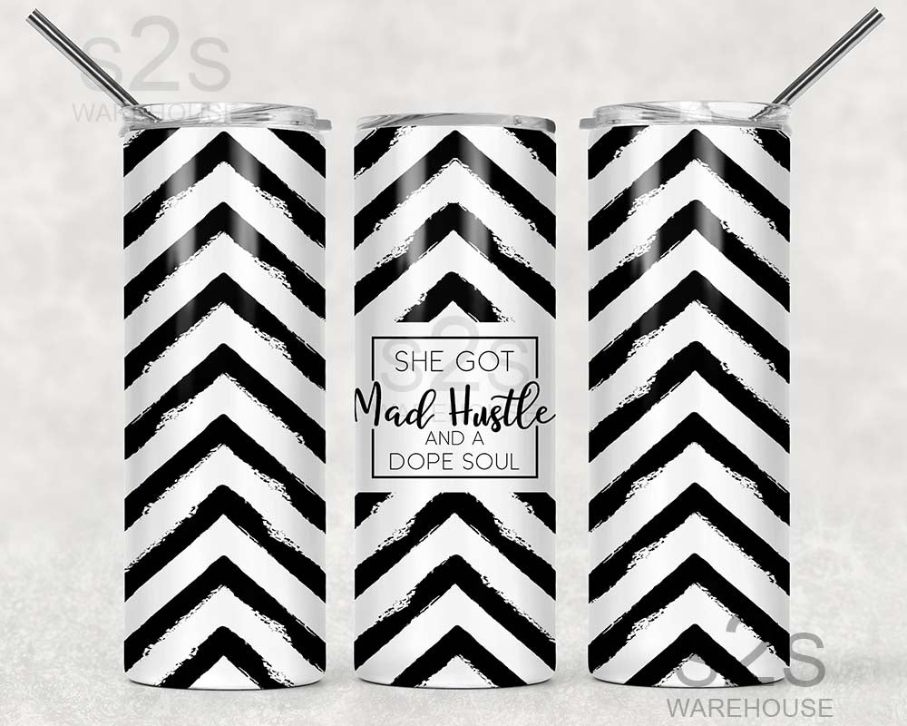 Tumbler Transfer - Mad Hustle Chevron 236
