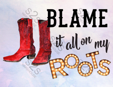 Art  by KM - Blame It All On My Roots - Sublimation Print