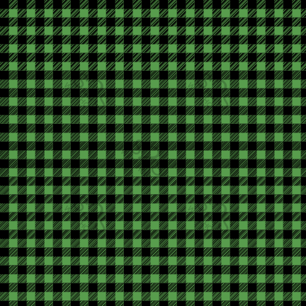 PV - Plaid Green (Buffalo) Small Pattern