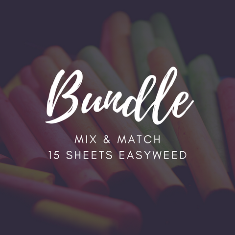 Siser EasyWeed Bundle - 15 sheets