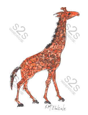 Art  by KM - Giraffe 1 - Sublimation Print