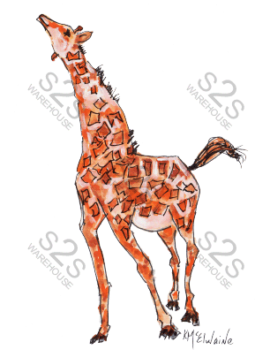Art  by KM - Giraffe 2 - Sublimation Print