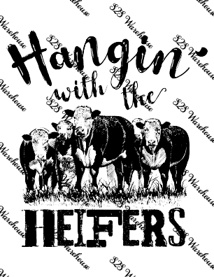 Sub Print - Hanging with the Heifers