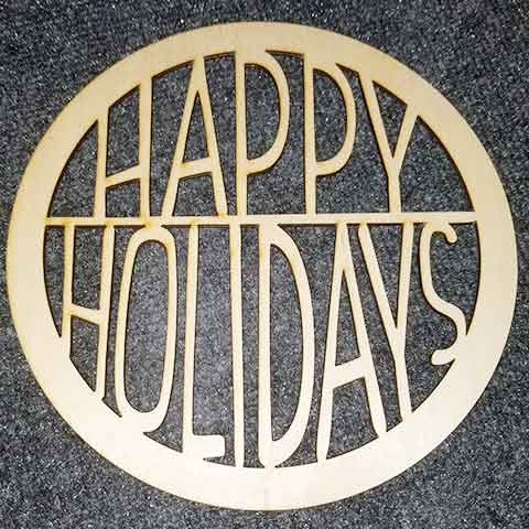 Happy Holidays - Layered Insert