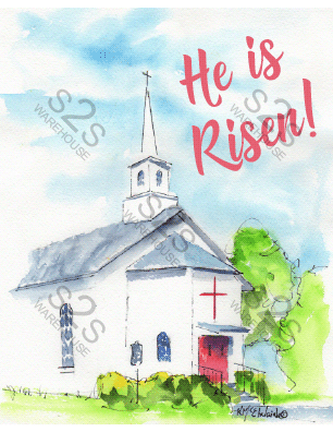 b9e61f124919f Art by KM - He Is Risen - Sublimation Print