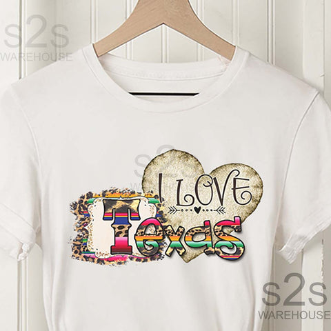 I Love Texas Heart Serape