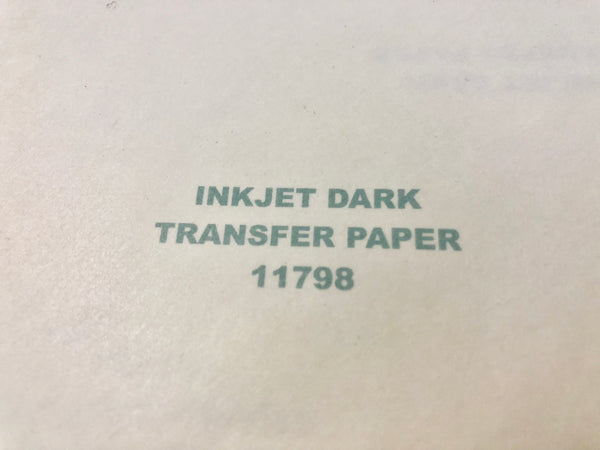 Iron On Heat Transfer Paper for Inkjet Printers - Dark Color Garments
