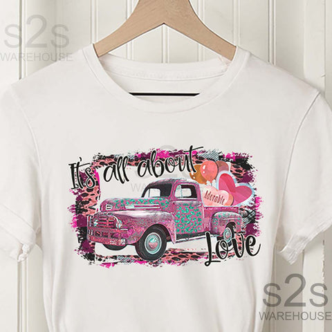 Its All About Love Pink Truck