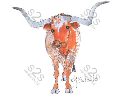 Art  by KM - Longhorn 3 - Sublimation Print