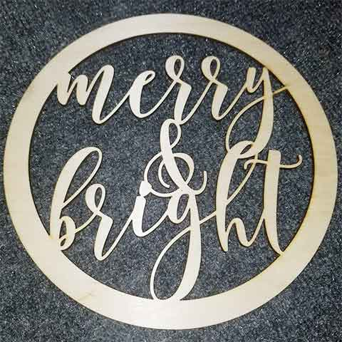 Merry & Bright - Layered Insert