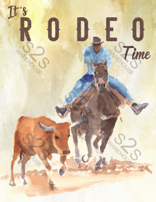 Art by KM - It's Rodeo Time - Sublimation Print