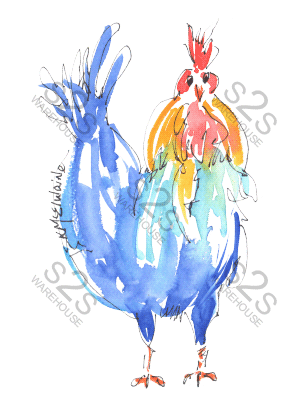 Art by KM - Rooster - Sublimation Print