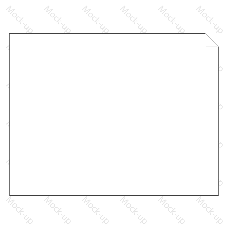Sublimation Transfer Sheet Mock-up 11 x 8.5 - Landscape