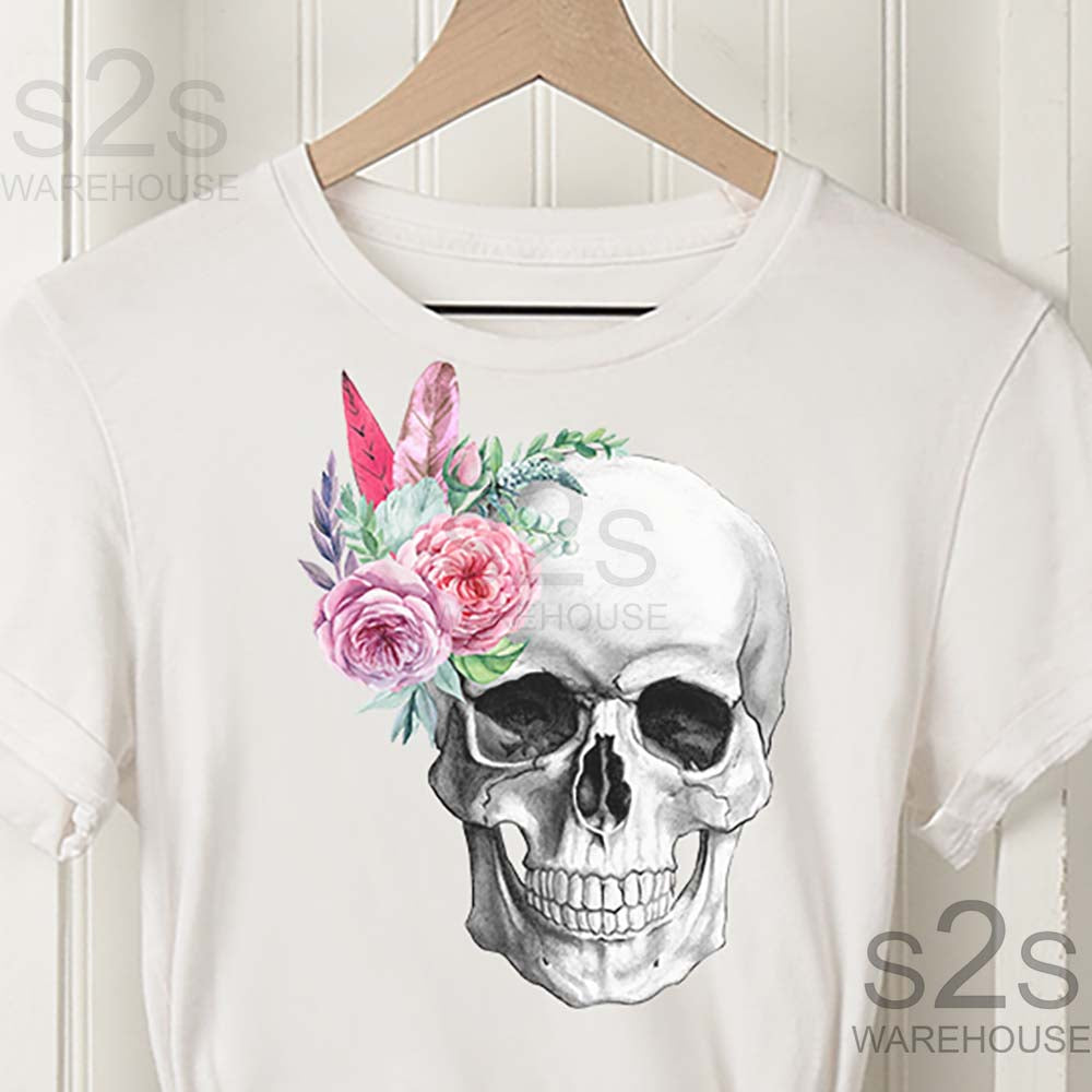 Skull Floral Alone
