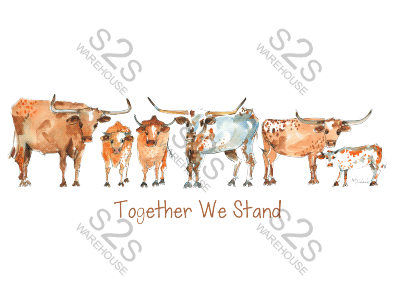 Art  by KM - Together We Stand - Sublimation Print