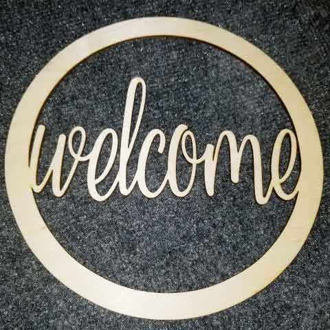 Welcome - Layered Insert
