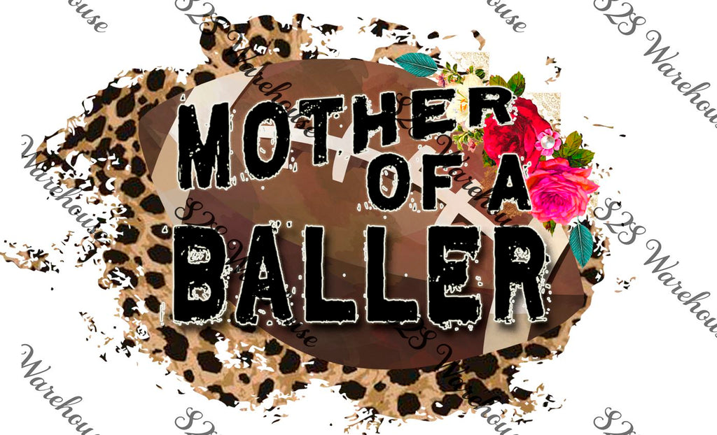Floral Mother Baller Football