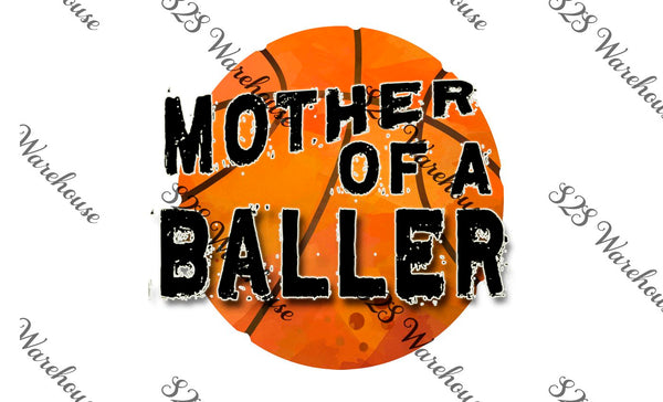 Plain Mother Baller Basketball