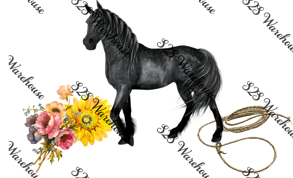 Untamable Horse Floral No Words