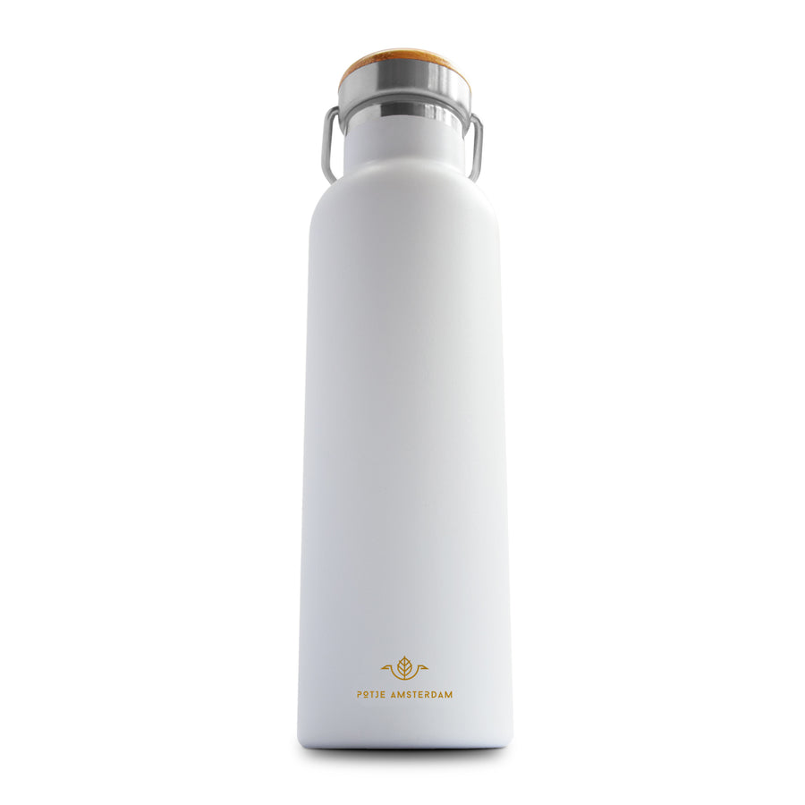 Potje Amsterdam Go Bottle White
