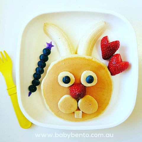 Easter Bunny Pancake in Replay Plate