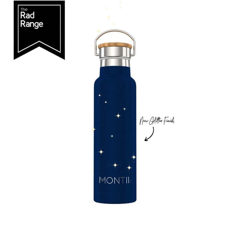 MontiiCo Insulated Drink Bottle - Glitter Midnight