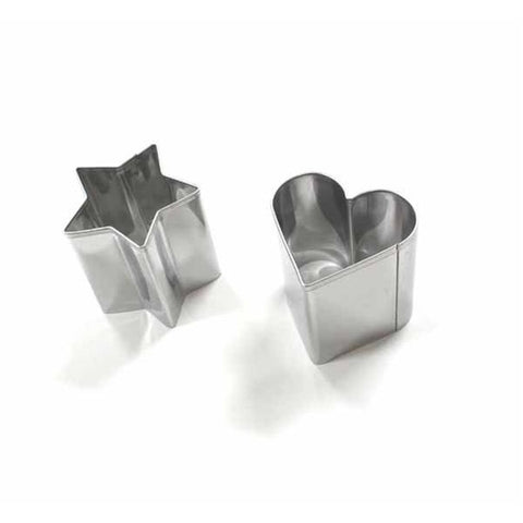 Stainless Steel Mini food Cutter Set - Star/Heat