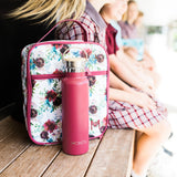 MontiiCo Insulated Drink Bottle - Burgundy
