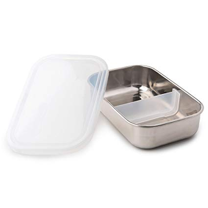 Stainless Steel Rectangle Lunch Box - Clear