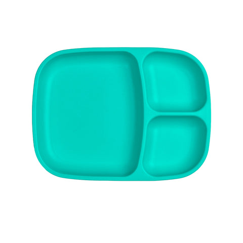 Re-Play Large Divided Plate - Aqua