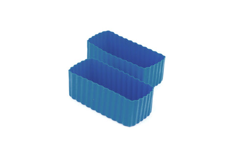 Bento Cups Rectangle - Medium Blue