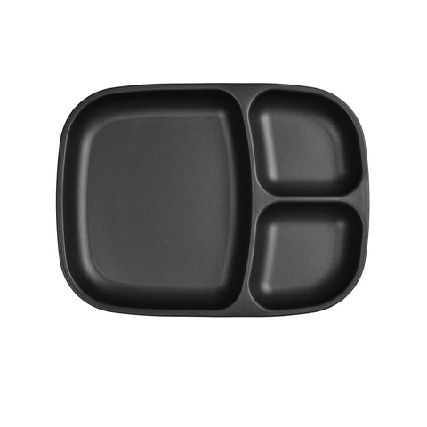 Re-Play Large Divided Plate - Black