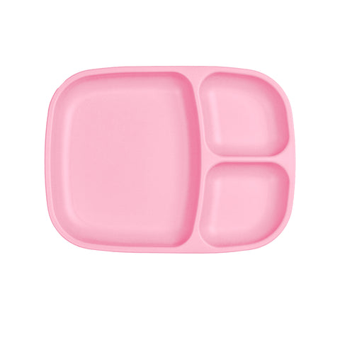 Re-Play Large Divided Plate - Baby Pink