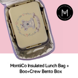 Montiico Insulated Lunchbag with Boo & Crew Bento Box