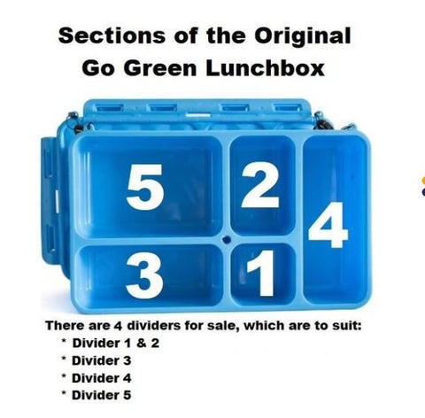 Go Green Divider Set of 4 - Section 1 & 2, 3, 4 and 5