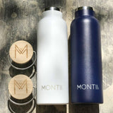 MontiiCo Insulated Drink Bottle - White