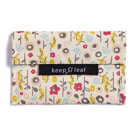 Keep Leaf Reusable Snack Bag - Bloom - BabyBento