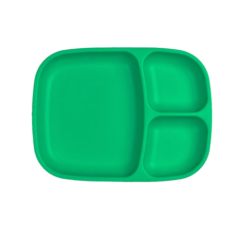 Re-Play Large Divided Plate - Kelly Green