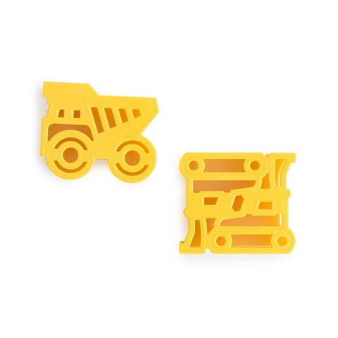 CONSTRUCTION Sandwich cutter pair dump-truck and bulldozer
