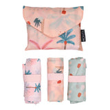 MontiiCo Shopper Bag Set - Boho Palms - Baby Bento