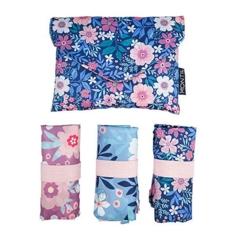MontiiCo Shopper Bag Set - Wildflower - Baby Bento